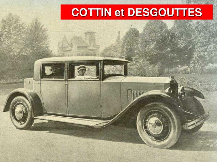 COTTIN et DESGOUTTES