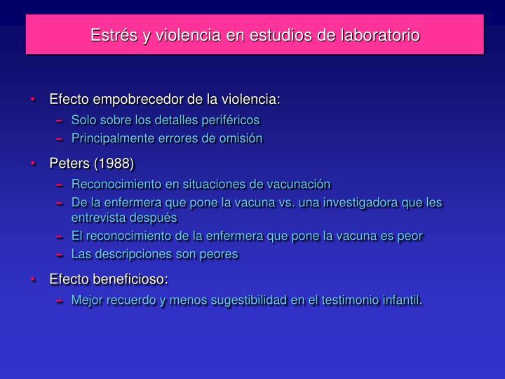Estrés y violencia en estudios de laboratorio