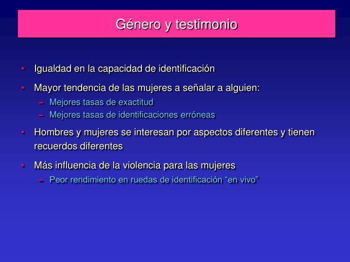 Género y testimonio