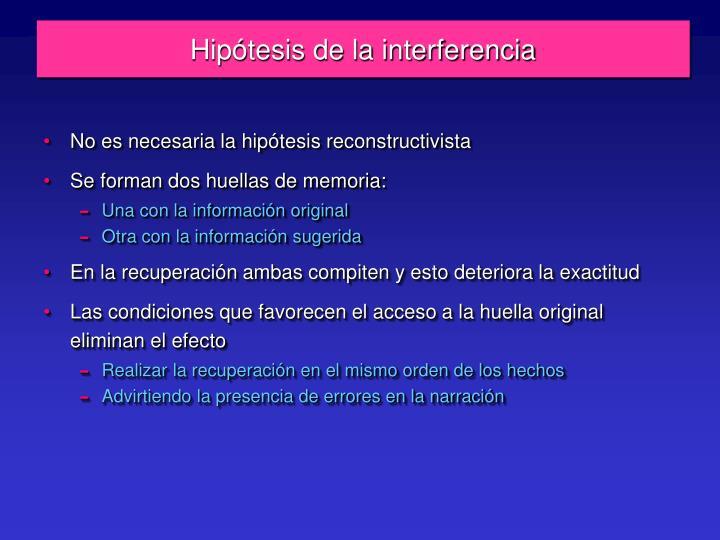Hipótesis de la interferencia