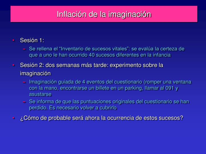 Inflación de la imaginación