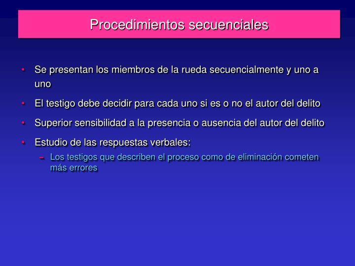 Procedimientos secuenciales