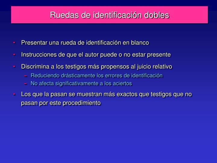 Ruedas de identificación dobles
