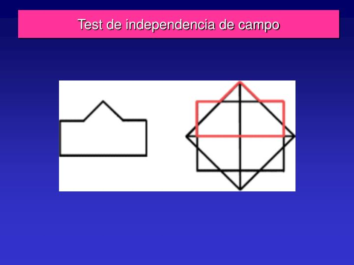 Test de independencia de campo
