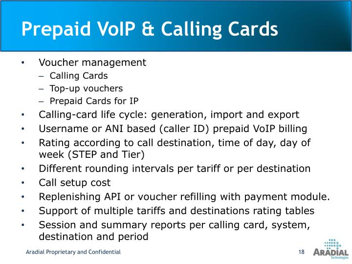 Prepaid VoIP & Calling Cards