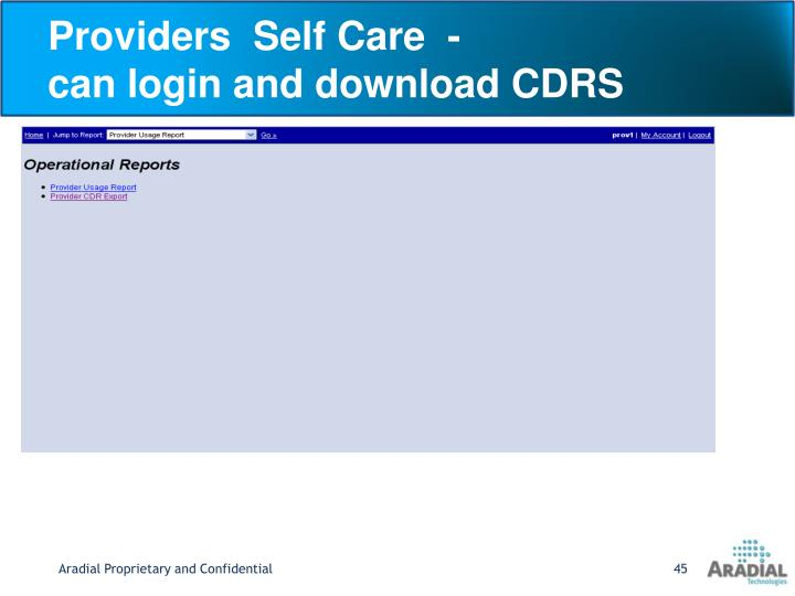 Providers  Self Care  -