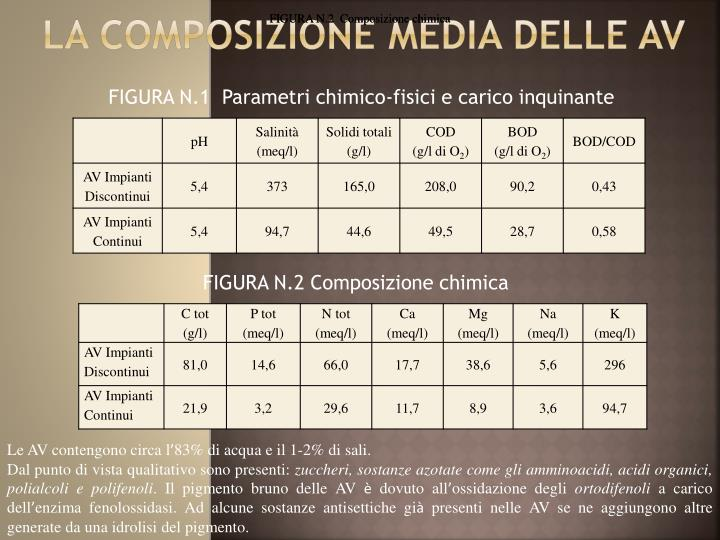 FIGURA N.2  Composizione chimica