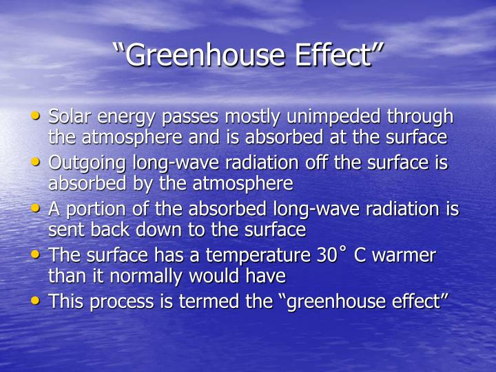 """Greenhouse Effect"""