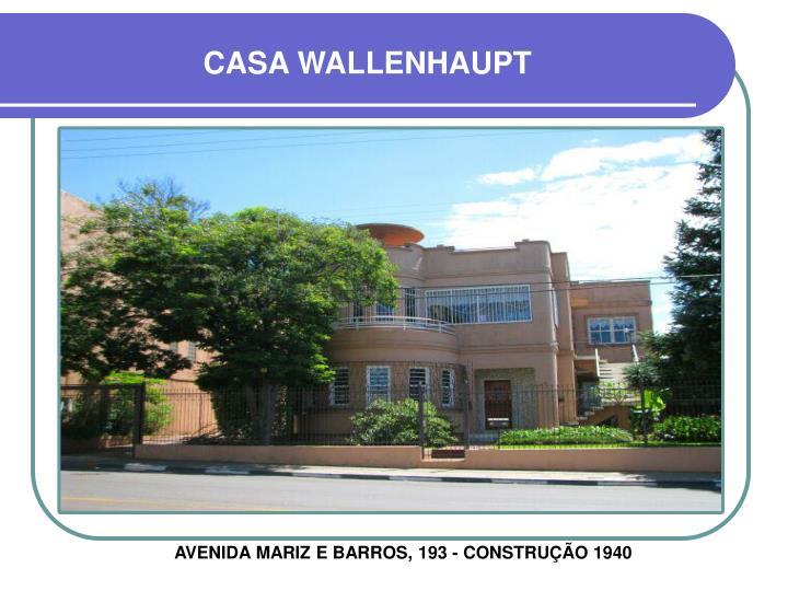CASA WALLENHAUPT
