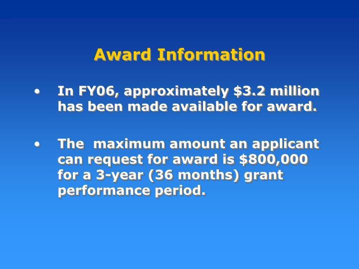 Award Information