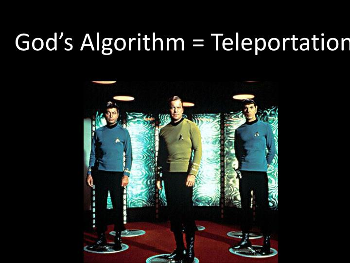 God's Algorithm = Teleportation