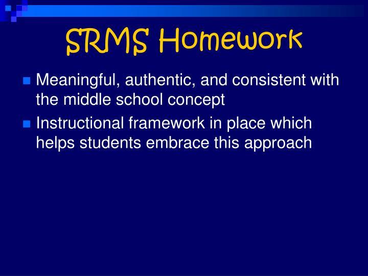 SRMS Homework