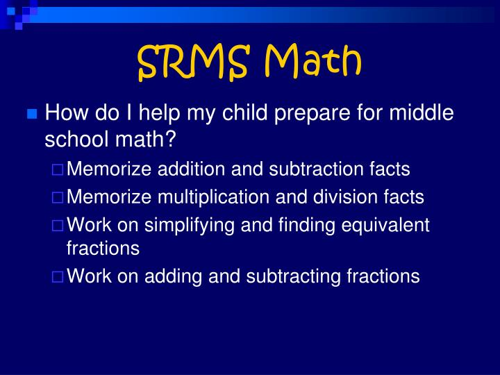 SRMS Math