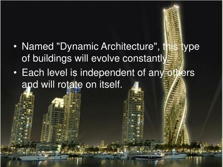 "Named ""Dynamic Architecture"", this type of buildings will evolve constantly."