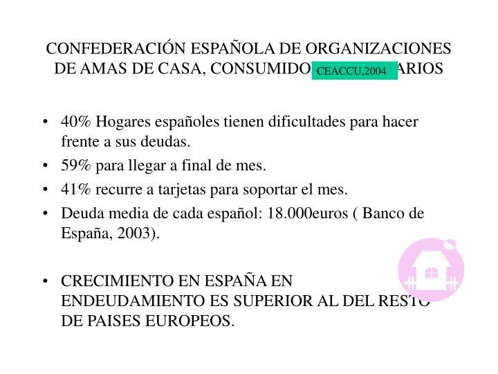CONFEDERACIÓN ESPAÑOLA DE ORGANIZACIONES DE AMAS DE CASA, CONSUMIDORES Y USUARIOS
