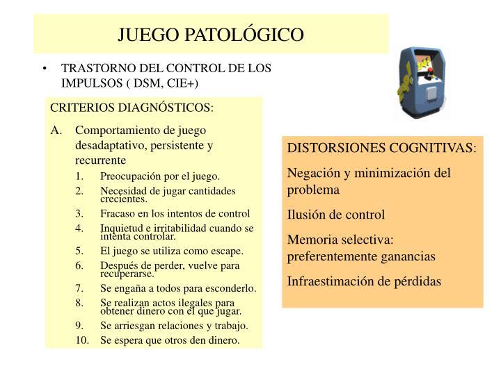 JUEGO PATOLÓGICO