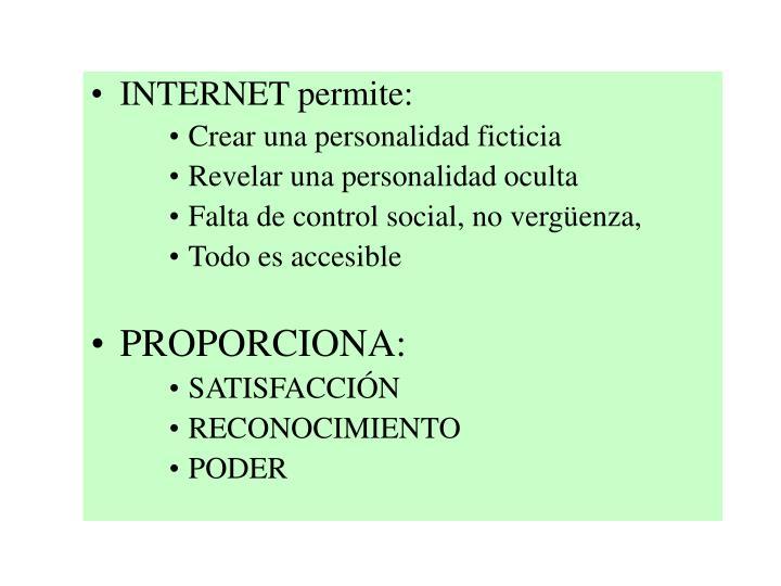 INTERNET permite: