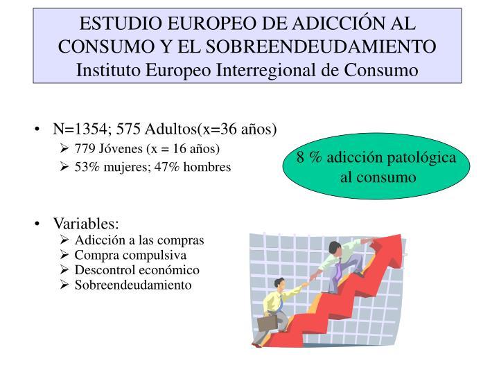 ESTUDIO EUROPEO DE ADICCIÓN AL CONSUMO Y EL SOBREENDEUDAMIENTO