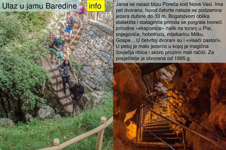 Ulaz u jamu Baredine