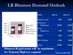 lr bitumen demand outlook