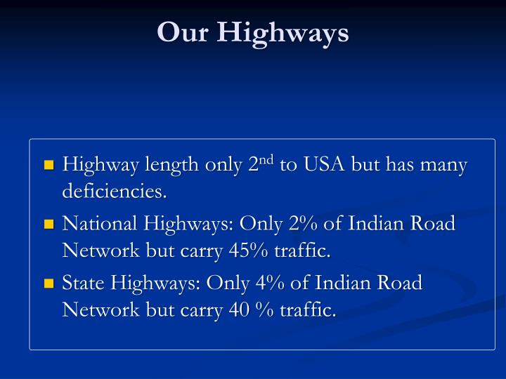 Our Highways