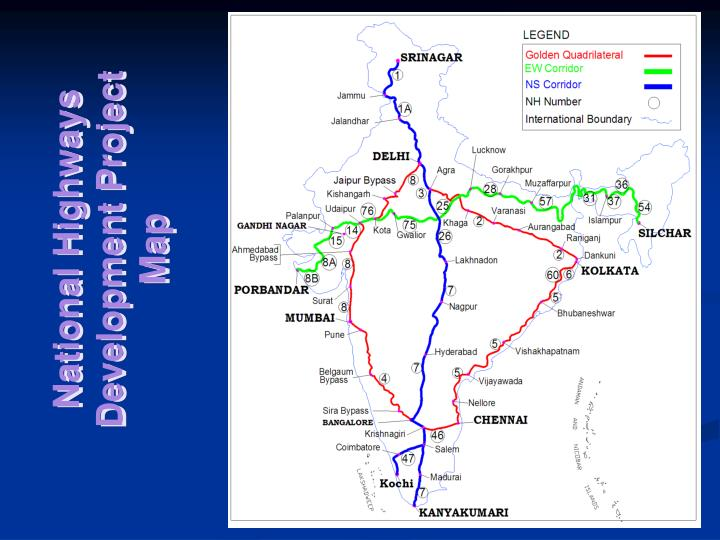 National Highways Development Project Map