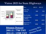 vision 2021 for state highways