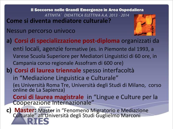 Come si diventa mediatore culturale?