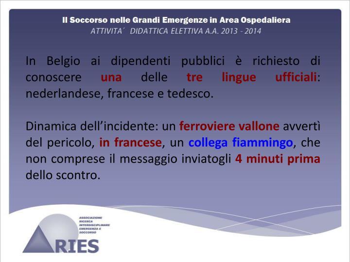 In Belgio ai dipendenti pubblici è richiesto di conoscere