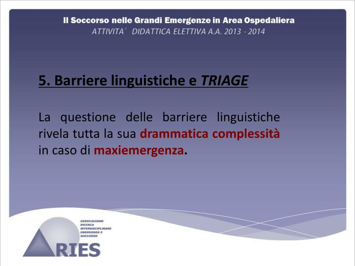 5. Barriere linguistiche e