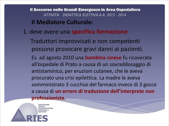 Il Mediatore Culturale: