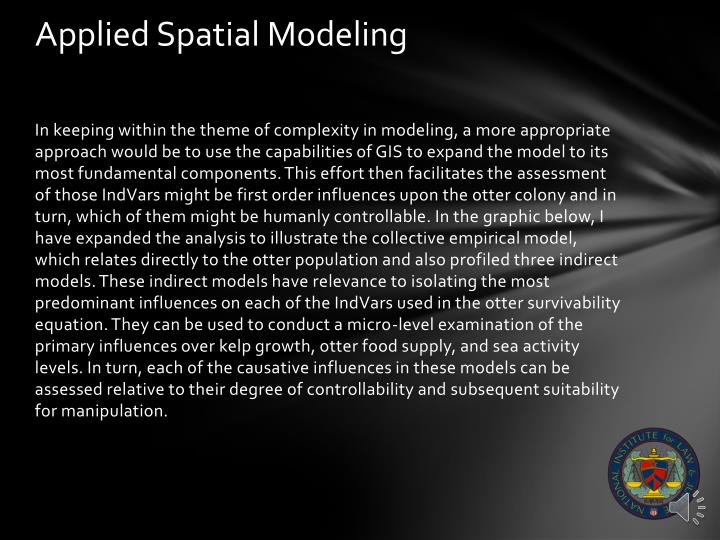 Applied Spatial Modeling