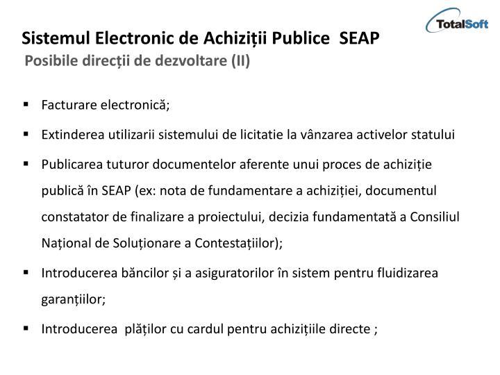 Sistemul Electronic de Achiziții Publice  SEAP