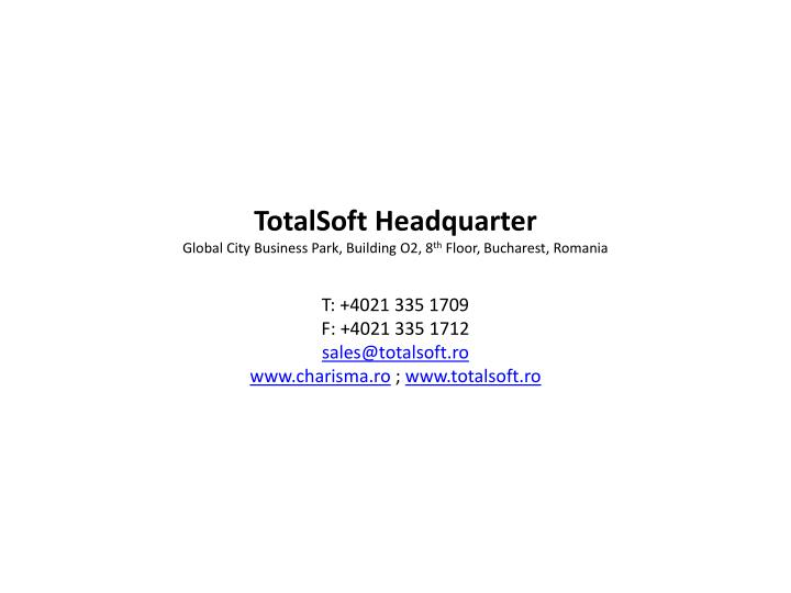 TotalSoft Headquarter