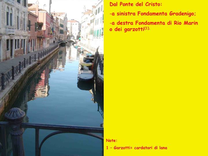 Dal Ponte del Cristo: