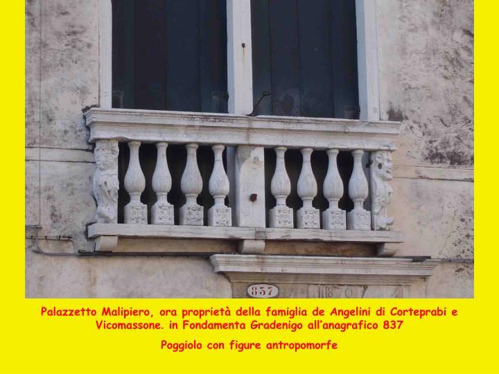 Palazzetto Malipiero, ora proprietà della f