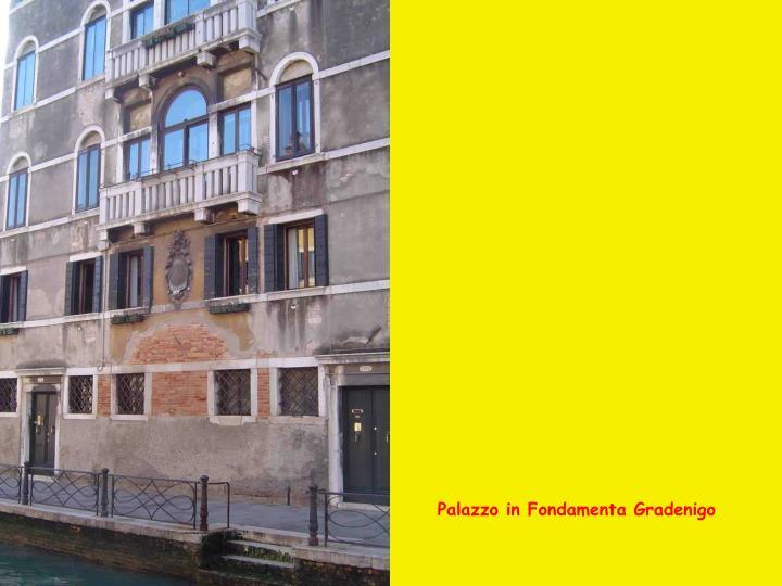 Palazzo in Fondamenta Gradenigo