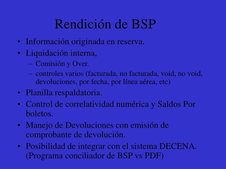 Rendición de BSP