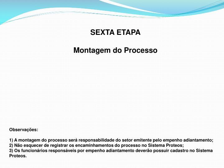 SEXTA ETAPA