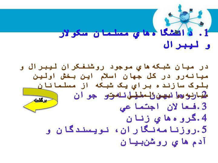 1. دانشگاههاي مسلمان سکولار و ليبرال
