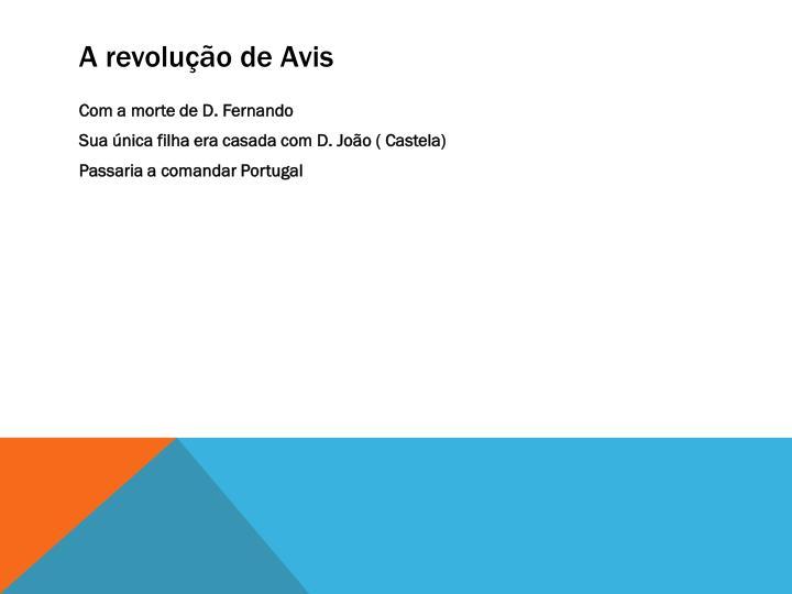 A revolução de Avis