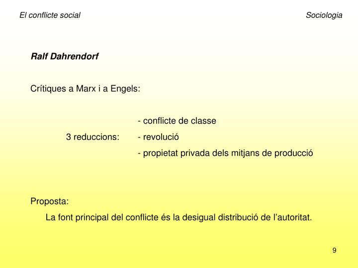 El conflicte socialSociologia