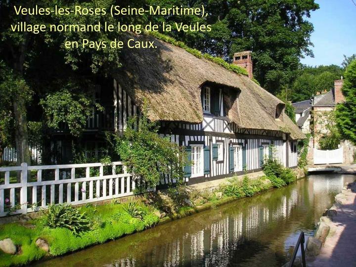 Veules-les-Roses (Seine-Maritime),              village normand le long de la Veules              en Pays de Caux.