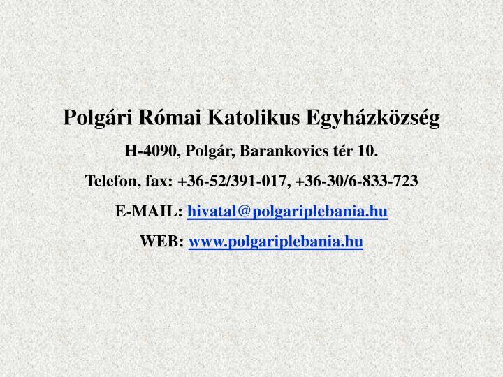 Polgári Római Katolikus Egyházközség