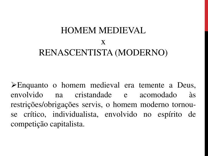 HOMEM MEDIEVAL
