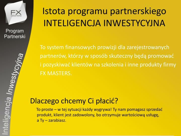 Istota programu partnerskiego