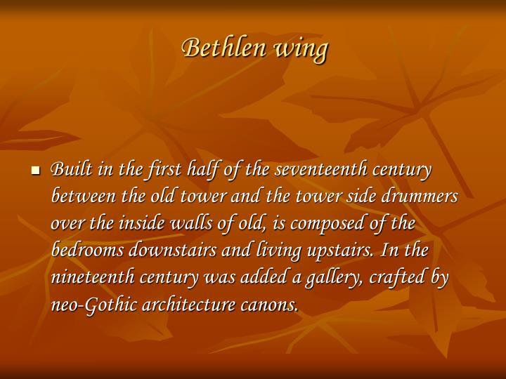 Bethlen wing