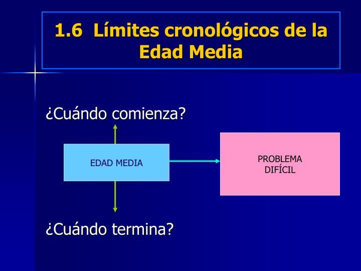 1.6  Límites cronológicos de la Edad Media