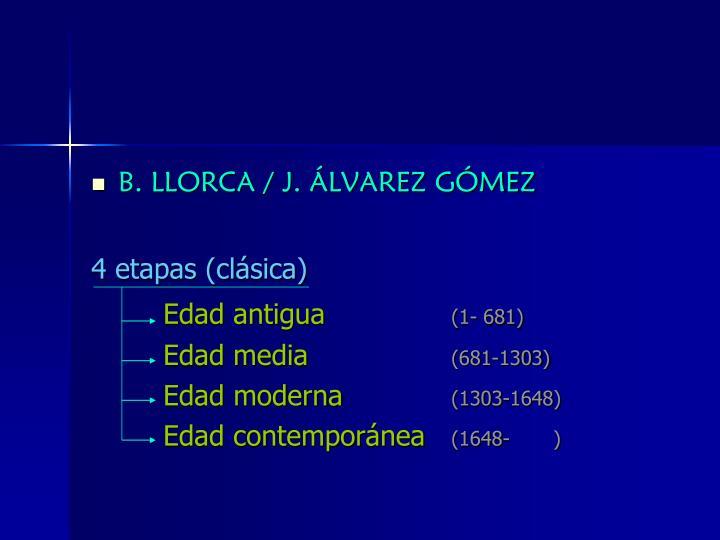B. LLORCA / J. ÁLVAREZ GÓMEZ