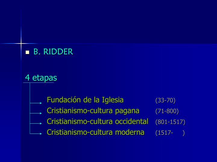 B. RIDDER